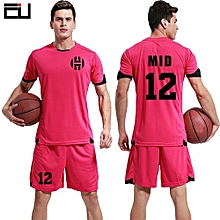 Customized Youth Boy And Adult Men's Football Soccer Sport Jersey-Pink(QD-1625)