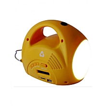Solar Radio Lamp - Yellow with White Lighting