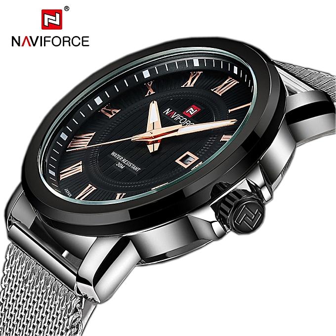 c8808b1fb12 Generic Luxury Brand Watch Men Mesh Strap Analog Date Quartz Watch Casual Clock  Man Wristwatch Relogio Masculino Montre Homme