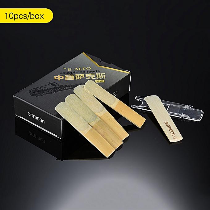 ... ammoon High Grade Eb Alto Saxophone Sax Bamboo Reeds Strength 2.5, 10pcs/ Box ...