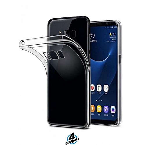 competitive price 95512 db5fc Samsung Galaxy S8 Plus Back Cover - Clear With Blue Edges