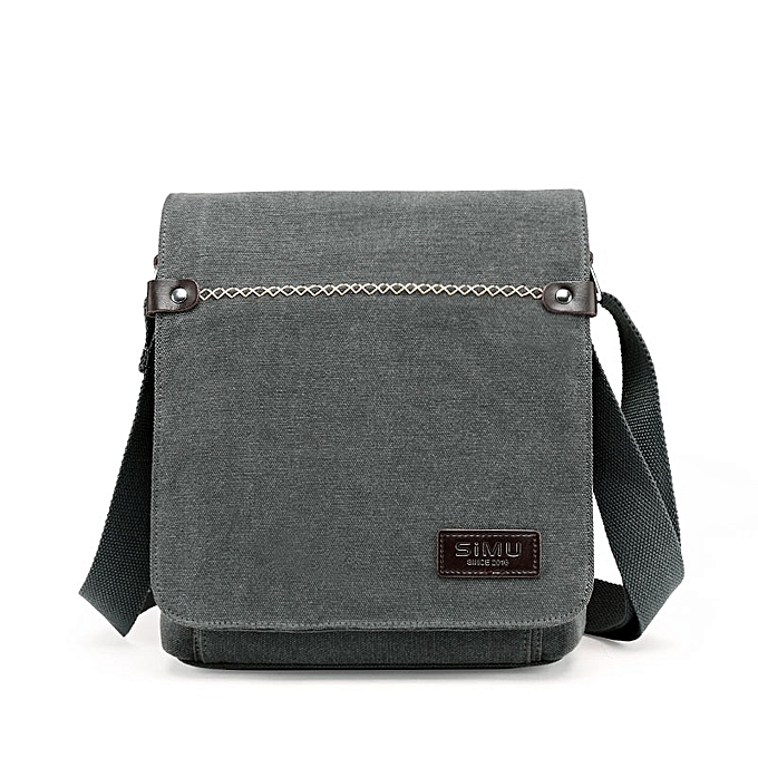 f48f8f60 Simu Men Message Bag Leisure Canvas Male Shoulder Bag 2017 New Crossbody  Bags 24*8*26cm(gray)