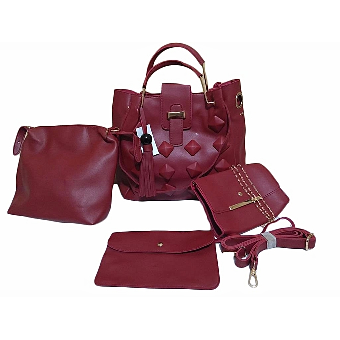 5dcbb4987866 Generic 4 in 1 High Quality Celine Paris Handbags - MAROON   Best ...