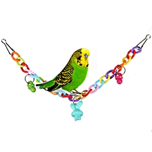 Acrylic Colorful Birds Parrot Chew Swing Cage Climb Ladder Scratcher Bites Toys