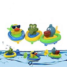 Cikoo Wind Up Bath Toy Pull Along Beach Play Toys Funny Amphibious Animal -