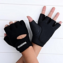 Sport Cycling Fitness Training Weightlifting Half Finger Gloves-Black
