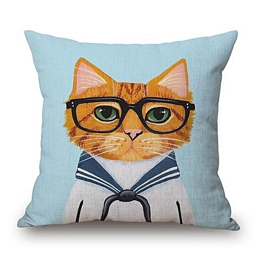Cute Cartoon Interesting Animal Cotton And Linen Hold Pillow Office Sofa Back Of A Chair