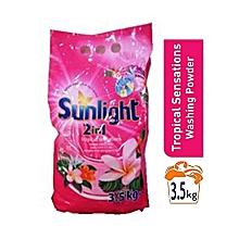 2 in 1 Washing Powder & Softener Tropical sensation  3.kg