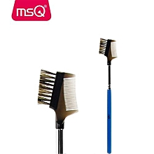 MSQ High Quality Double-End Eyebrow Makeup Brush With Painted Blue Wood Handle For Fashion Beauty MakeUp Cosmetic