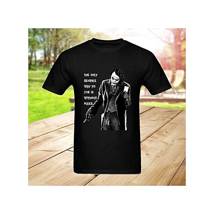 e801066784 Latest Loose Fit Mens The Joker Quote T-shirts Custom Printed Short Sleeves  Cotton Graphic Summer Cool T Shirts For Men