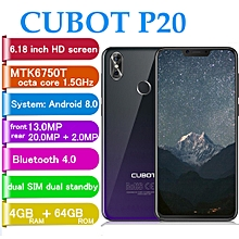 P20 4G Phablet 6.18 inch Android 8.0 MTK6750T Octa Core-FANTASTIC