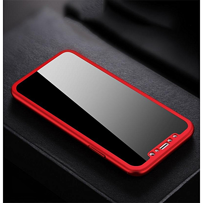 new styles b85b5 3ca93 For Xiaomi Redmi Note 5 / Redmi Note 5 AI Casing 360 Degree Real Full Body  Ultra-thin Hard Slim PC Case With Tempered Glass For Xiaomi Redmi Note 5 /  ...