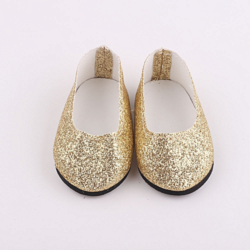 2ff2c90b1216a Braveayong Glitter Doll Shoes Dress Shoe ACCY For 18 Inch Our Generation  American Girl Doll -Gold