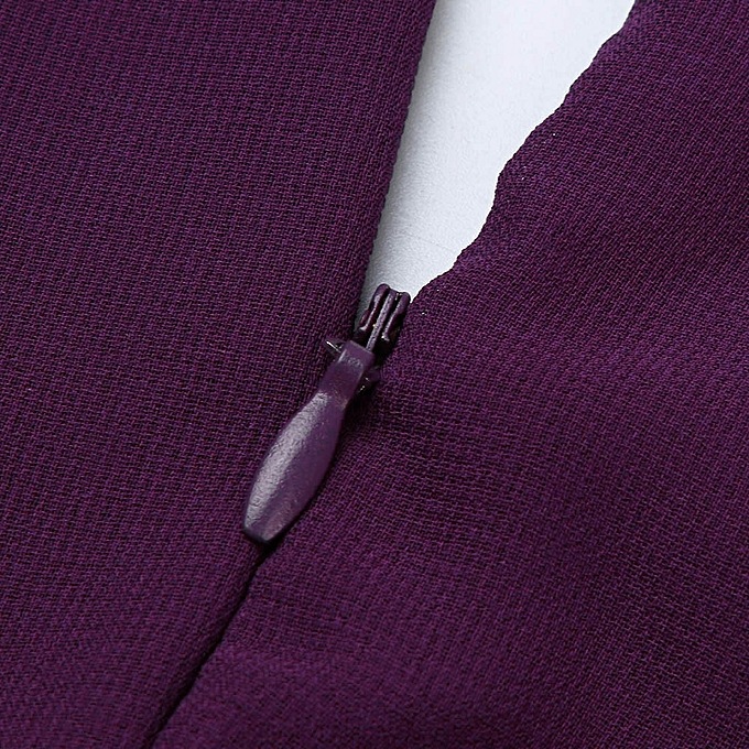 ... Xiuxingzi Fashion Women Casual Solid Chiffon V-Neck Evening Party Long  Dress 697f14e3e761
