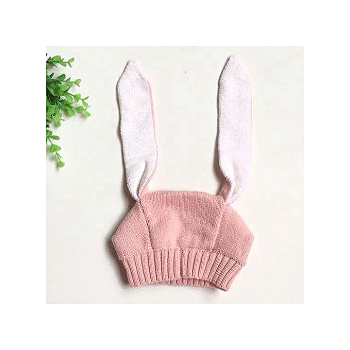 c8a232e5bdf Braveayong Baby Toddler Kids Boy Girl Knitted Crochet Rabbit Ear Beanie  Winter Warm Hat Cap -