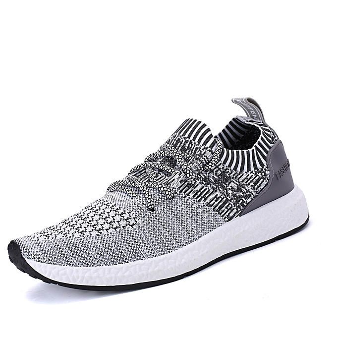 differently cc1d3 7d90d Breathable Flyknit Sock Shoes Casual Shoes Sneakers-Light Grey