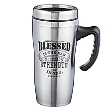 Stainless steel travel mug- Blessed