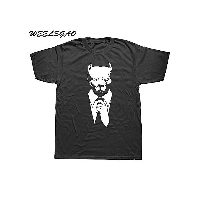 Men's Summer T Shirts Short Sleeve Mr  Pitbull Pit Bull Funny Tees Short  Sleeved Clothing Men Cool Tee Shirts
