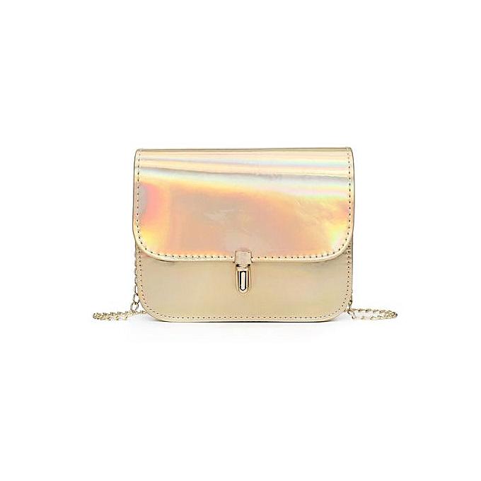 9c502ec7b5 Zetenis Fashion Women Laser Leather Crossbody Bags Messenger Shoulder Bag - Gold