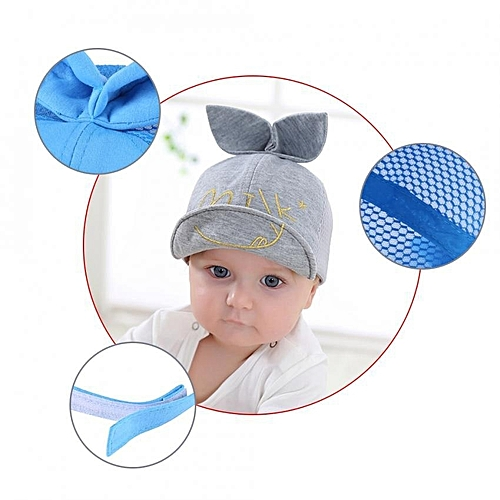 UNIVERSAL Baby Boys Girls Infant Cotton Baseball Cap With Cute Rabbit Ear  Toddler Kids Sun Hat (Pink) adc7377b6a6