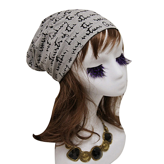 e764519839f singedanFashion Women Men Letter Print Hip-Hop Beanie Hat Baggy Unisex Ski Cap  Skull ...