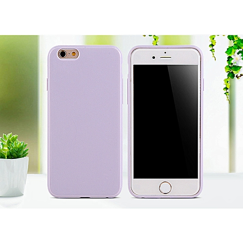 sale retailer 6ab35 81ba1 for iphone 8 Plus case SIXEVE Candy Colors Silicone Case Cell Phone Back  Cover-Light purple