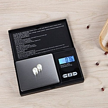 Technologg Electronic Scale  200g * 0.01g LCD Digital Pocket Scale Jewelry Gold Gram Balance Weight Scale-Black