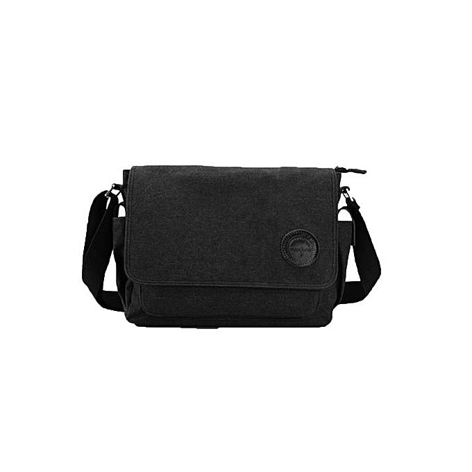 4bf1b008aa Fashion Zetenis Men Vintage Canvas Messenger Shoulder Bag Crossbody Sling School  Bags Satchel BK -Black