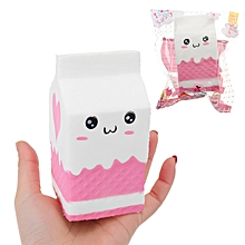 Squishy Jumbo Pink Milk Bottle Box 11cm Slow Rising Soft Collection Gift Decor Toy-