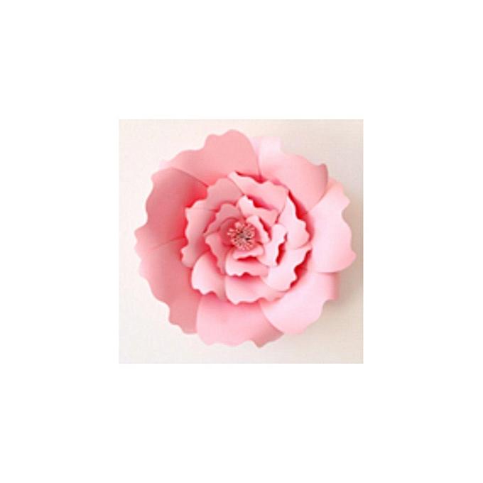 Buy Generic 2pcs Paper Flower Backdrop Wall 20cm Giant Rose Flowers