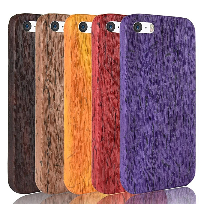 Iphone 5s Case Wood Texture Pu Leather Hard Pc Protective Case Cover For Apple Iphone Seiphone 5siphone 5
