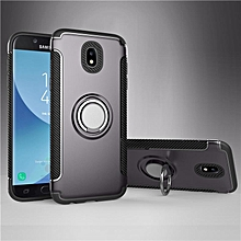 KZ Slim Fit Hybrid Dual Layer Armor Shock Absorption Rugged Defender with Ring Holder Kickstand Drop Protection Soft Rubber Bumper Case Cover for Samsung Galaxy J7 Pro   XXZ-Z