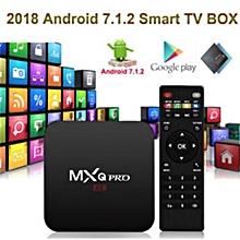 Android box 2GB + 16GB internal memory   MXQ Pro 4K OTT Android 7.1 Smart TV Box CPU 4 Core, GPU Pentacore,  64 Bit HEVC H.265, Wifi.