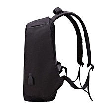 Anti-theft USB Charging Port laptop Backpack -Black