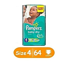 Diapers, Baby Dry - Jumbo Pack (Count 64)