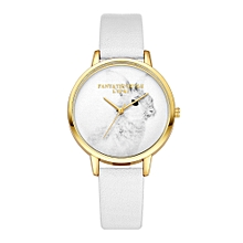 guoaivo LVPAI Watches Women Quartz Wristwatch Clock Ladies Dress Gift Watches WH -White