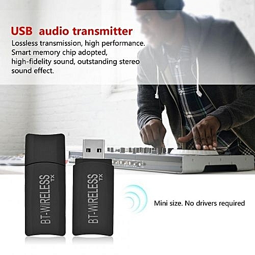 Portable 2 In 1 USB Wireless Bluetooth 4 2 Transmitter And Receiver Stereo  Audio 3 5mm Adapter