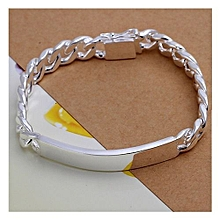NYKKOLA Beautiful Jewellery Solid Silver Classic Design Bracelet For Women Mens