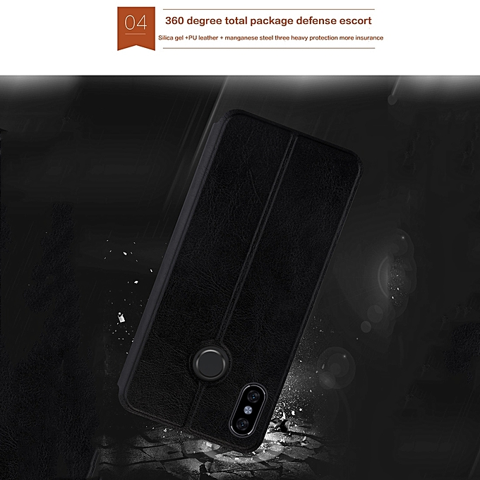 with MOFI Crazy Horse Texture Horizontal Flip Shockproof Leather Case for Xiaomi Mi .