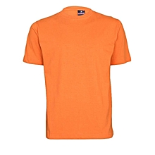 Orange Slim Fit Plain T-Shirt