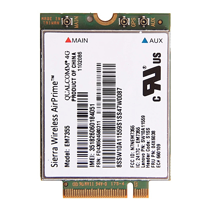 Sierra Gobi5000 EM7355 NGFF Card FRU: 04W3801 Wireless 4G LTE WWAN  EVDO/HSPA Module for IBM Lenovo Thinkpad X240 T440 T440s L540