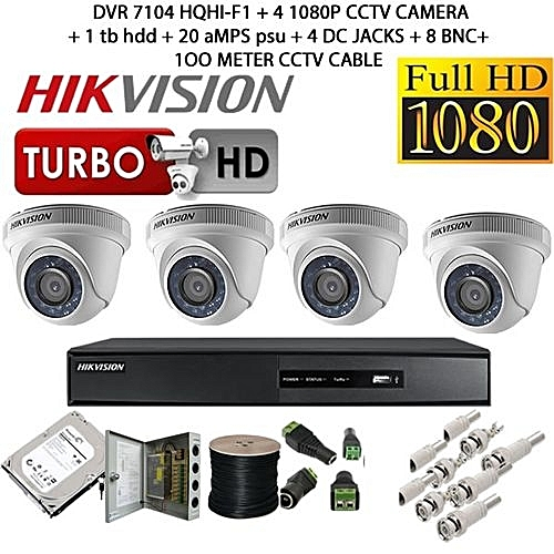 e2bd00229 HikVision CCTV Security Cameras - 4 Channel kit- 1080p with 1 TB HDD ...