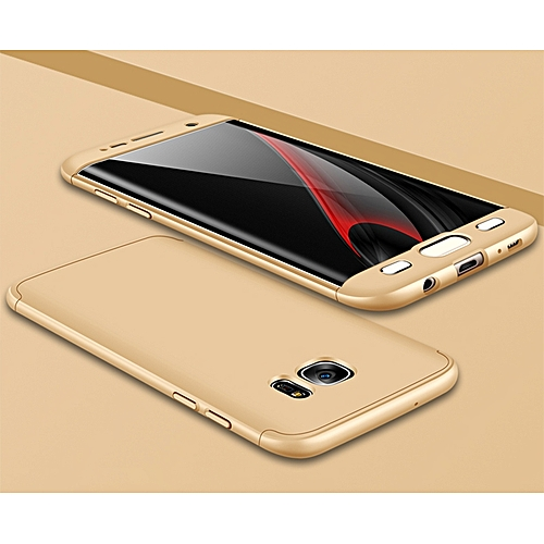 new style d8756 529b5 Hard PC Full Cover Case For Samsung Galaxy S7 Edge 360 Degree Armor 3 In 1  Phone Cases For Samsung S7 Edge Back Fundas Shell (Gold)