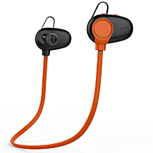 L3 Wireless Bluetooth Spt Stereo Earphone Headset F IPhone -Orange