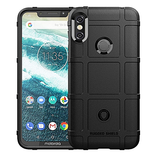 buy popular 53b72 dddee Motorola One Power / Moto P30 Note Case Rugged Shield Silicone Heavy Duty  Armor Shock-Proof Protective Case Cover