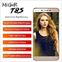 "T8S 5.5""FHD 4G LTE Mobile Phone Android 8.1 4GB+32GB 13.0MP Face ID Fingerprint 3080mAh Smartphone"