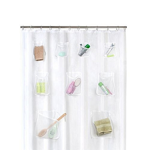 Generic Houseworkhu Phone Tablet Holder Clear Shower Curtain Liner With Pockets Best Price