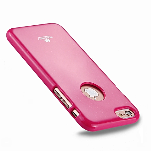 best sneakers 0483a 4acf6 MERCURY GOOSPERY JELLY CASE for iPhone 6 Plus and 6s Plus TPU Glitter  Powder Drop-proof Protective Back Cover Case (Magenta)