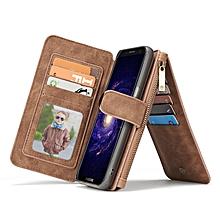 CaseMe Detachable Zipper Wallet Case For Samsung Galaxy S8 Plus