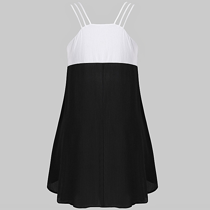 5a2337e046a4c ... Hiaojbk Store Women Casual Sleeveless Lace Stitching Panel High Low  Irregular Tank Top Blouse-Black ...